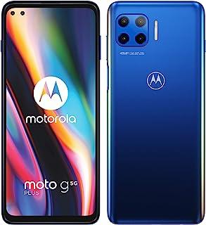 Moto g 5G Plus 双卡智能手机(6.7 英寸-CinemaVision FHD+-显示屏,48 MP-四倍相机系统,64 GB/4 GB,Android 10)蓝色,包括保护套 + TV Now 优惠券[亚马逊*]