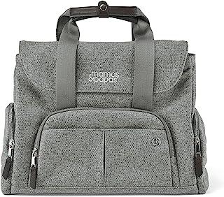 Mamas & Papas 保龄球风格换尿布包带更换垫和隔热瓶架 - 编织灰色