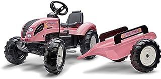 Falk – 拖拉机带踏板国家明星 带拖车 – 3 岁以上方向盘带喇叭 – 可调节座椅 – 1058AB