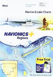SD/MSD 上的 Navionics Plus 区域西部海洋和湖图