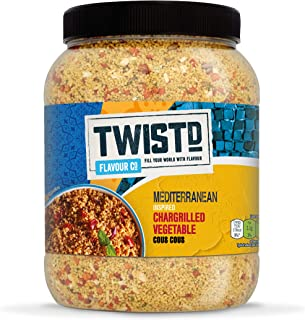 TWISTD Flavour Co. Mediteranean Chargrilled Vegetable Cous Cous, 1.5kg (Pack of 2)