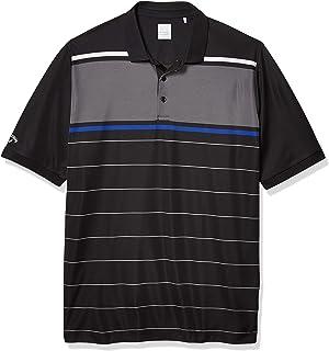 Callaway 男式短袖牛津条纹摇摆科技 Polo 衫