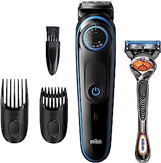 BRAUN 博朗 胡须修剪器 BT5240,男士理发器,无绳和可充电,带有 Gillette ProGlide 剃须刀
