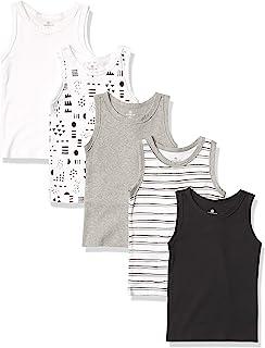 Honest Baby Clothing Company 男婴 5 件装*棉肌肉 T 恤无袖 T 恤