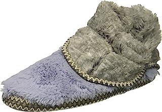 Dearfoams 女士人造毛皮折叠靴拖鞋