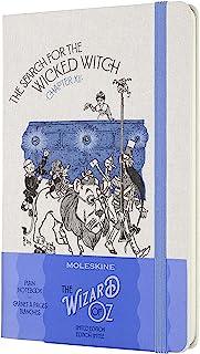 Moleskine 限量版 绿野仙踪笔记本,硬封面,大(5 英寸 x 8.25 英寸)横格/内衬,邪恶女巫,240 页