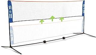 Hit Mit 可调节高度便携式羽毛球网套装 – 竞赛多种运动室内或室外网用于打匹克球、儿童排球、足球网球、草坪网球 – 简单快速组装
