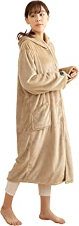 Niceday mofua 可穿着式毛毯 高级超细纤维 保暖居家服 带兜帽 米色 Mサイズ 48476416