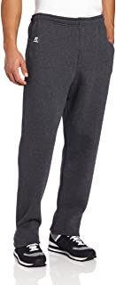 Russell Athletic 男式 Dri-Power 开底运动裤带口袋 杂黑色 Large