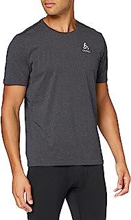 ODLO 男式 Bl Top Aion 素色圆领 S/S 衬衫,男式,350372