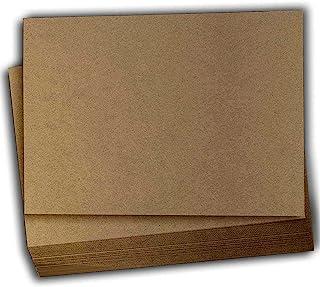 Hamilco 棕色彩色牛皮纸卡片纸 - 10.16 x 15.24 cm 厚重 80 磅封面卡片纸 - 100 张装.....