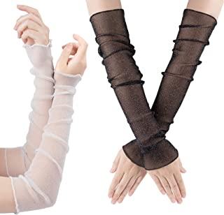 OIIKI 女式长款超薄蕾丝手套*防紫外线冷却袖套