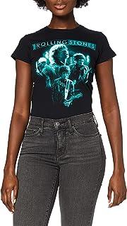 Rolling Stones 女士乐队发光短袖 T 恤