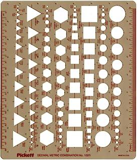 Pickett 英语和公制模板、圆形、正方形、六边形和三角形 (1037I)