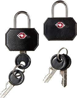 Lewis N. Clark TSA 迷你挂锁2件装 黑色 均码