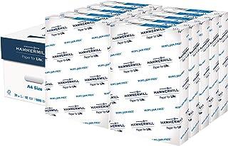 Hammermill A4 尺寸,(210 毫米 x 297 毫米),复印纸,10 个Ream 保护套,5,000 张,美国制造,可持续采购自美国家庭树农场,无酸,92 明亮,105500C,白色