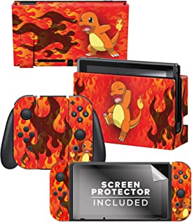 "Controller Gear 正品*任天堂 Switch 皮肤和屏幕保护膜套装 - 精灵宝可梦 - ""Charmander Fire Style"" - Nintendo Switch"