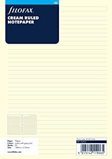 filofax 斐来仕 343032 A5 横线页 笔记本内页 活页替芯 内页 配件(米黄色)