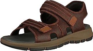 Clarks 男士Brixby Shore 脚踝绑带凉鞋