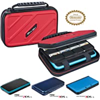 RDS Industries 官方*硬质保护 3DS XL 便携包 - 兼容 Nintendo 3DS XL、2DS X…