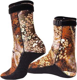 氯丁橡胶游泳潜水袜 3 毫米沙滩排球沙足球袜水靴适用于潜水冲浪浮潜钓鱼涉水皮划艇徒步漂流,高切防滑游泳水鳍袜鞋