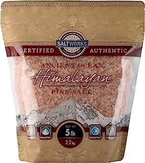 SaltWorks 古海洋喜马拉雅粉盐,粗粒,5磅(2.3千克)散装