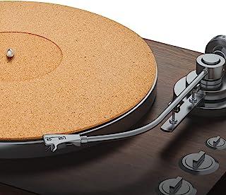 Pro-Spin 软木转盘垫适用于乙烯基 LP 唱片播放器(3 毫米)高保真音质支持 | 帮助减少静电和灰尘引起的噪音