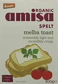 Amisa Organic Spelt Melba Toasts 200g (Pack of 6)