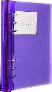 Filofax 斐来仕 Clipbook 系列 A5 透明紫 活页多功能记事本 笔记本