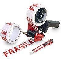 Rapesco1618 960 胶带分配器 带 2 卷胶带('Fragile' ) & 美工刀