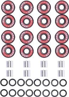 Adventure World Rollerex 608ZZ ABEC-7 滑冰轮轴承、垫片和垫圈套件(滑板和直排滑板)(4 轮包/8 轮包)