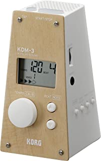 KORG KDM3-WDWH 金字塔风格数字节拍器 - 限量版 - 前浅枫木 - 白色,木色/白色