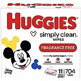 Huggies 好奇 Simply Clean 无香婴儿湿巾 11包 (共704片)