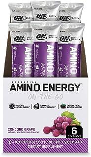 OPTIMUM 欧普特蒙氨基酸能量与绿茶和咖啡色精华 preworkout 和 Essential AMINO acids Stickpacks 6 Count 6