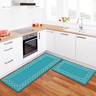 LuxStep 厨房垫 2 件套抗*垫,防滑厨房地毯和垫子防水*泡沫厨房地毯,站立式桌垫地板垫,适用于家庭、水槽、办公室、厨房(*)