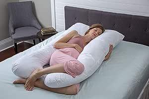Aller-Ease * 纯棉孕妇枕头,154.94 x 86.36 x 17.78cm,白色