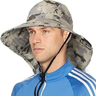 宽帽檐太阳帽带领盖,UPF50+ 男士女式徒步狩猎钓鱼帽