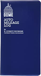 Dome(R) Auto Mileage Log, Vinyl Cover, 3 1/4in. x 6 1/4in, Blue