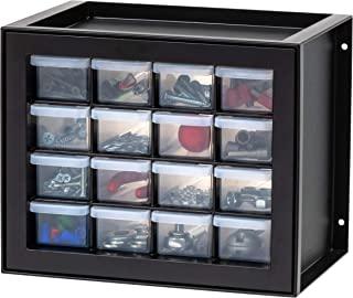 IRIS USA DPC-16 抽屉零件橱柜,16,黑色