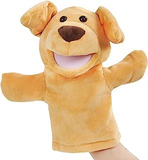 CozyWorld 狗狗木偶柔软手偶 毛绒玩具秀 为成人和儿童开发*礼物,黄色,10 英寸(约 25.4 厘米)