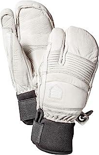 Hestra 男式滑雪手套:秋天线冬季寒冷天气皮革 3 指手套