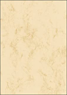 Sigel 大理石纹纸张 A4 超级包 Grammatur: 90 g / 250 Blatt 250 Blatt 米色