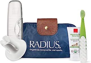 RADIUS *宠物豪华口腔护理套装(含*犬牙牙膏的犬牙牙刷,白色牙刷架,透明动物盒,蓝色旅行袋),1 件装