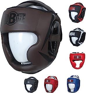 Twister 竞赛拳击头盔人造皮革泰拳击头保护头盔 黑色/白色