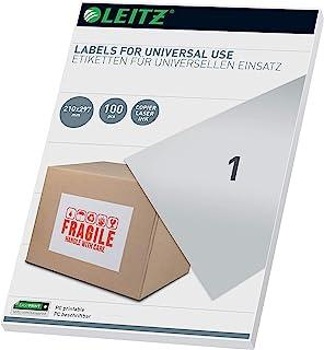 Leitz 61710001 PC Writeable Universal Labels 210 x 297 mm 白色 有线接口/性别适配器