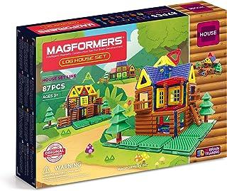 MAGFORMERS 小木屋儿童玩具套装,磁性积木玩具 小木屋和树屋,共87件