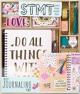 STMT DIY 日記套裝,Horizon Group USA 出品,使用貼紙、閃光框架、磁性書簽、流蘇鑰匙扣等個性化和裝飾您的計劃/組織者/日記本。包含筆