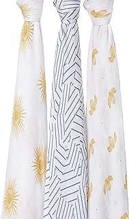 aden + anais 丝滑柔软襁褓 金色阳光 120 x 120 厘米 3 件装