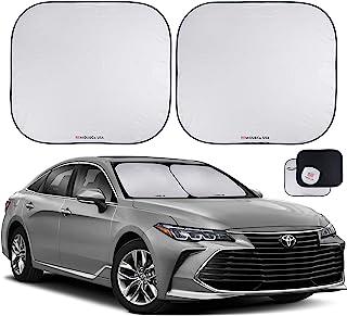 """汽车挡风玻璃遮阳罩2件套 - 真正的210T超反光面料*大程度防紫外线和* - 汽车遮阳挡挡风玻璃 - 挡风玻璃保护膜 - 汽车挡风玻璃遮阳 Large (28"""" x 31"""") MDCWSS2P"""