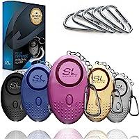 个人闹铃 - 130 分贝个人闹铃 - 带 LED 灯的个人闹铃钥匙链,紧急自我防卫,适用于女士、儿童和老人。 **声音…